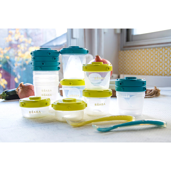 Stackable Food Jars - Blue (2)