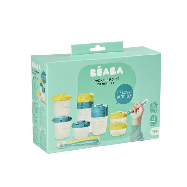 Beaba 1st Age Meal Set Clip Portions - Blue (3)