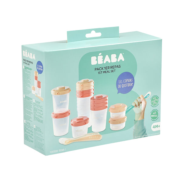 Beaba 1st Age Meal Set Clip Portions - Pink (3)
