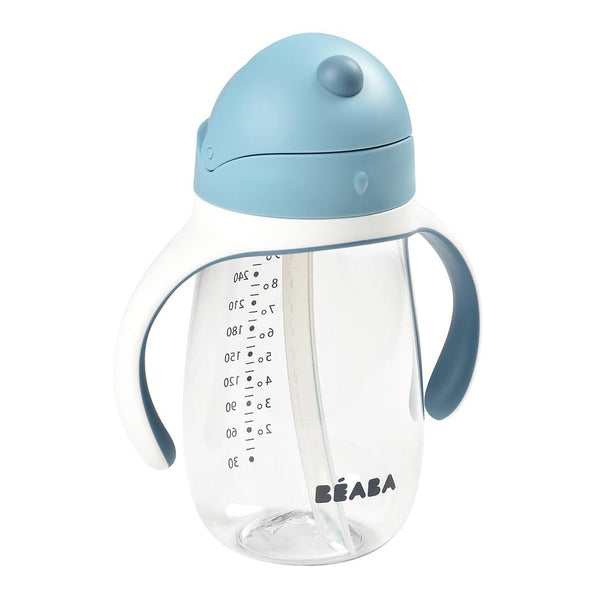 Beaba 2 in 1 Straw Learning Cup - Blue (1)