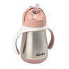 Stainless Steel Straw Learning Cup - Pink