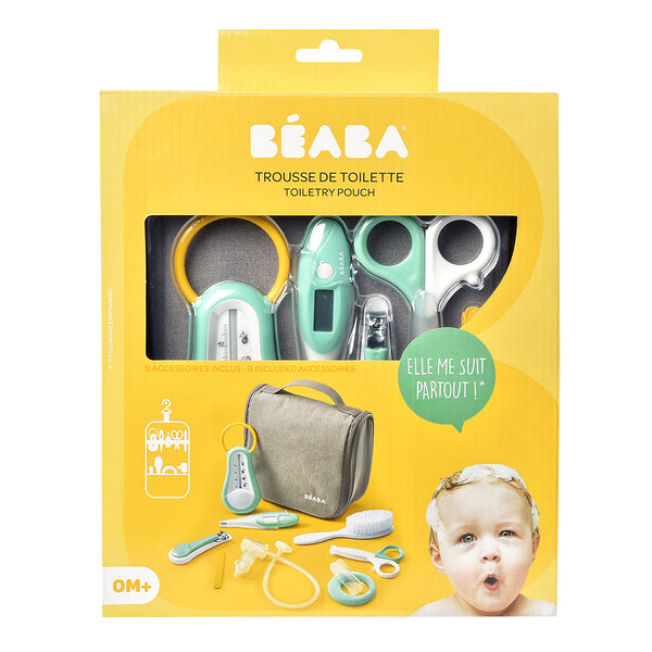 Beaba Hanging Toiletry Bag With Accessories - Grey (2)