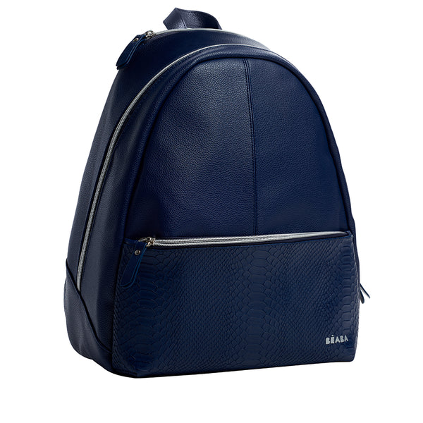 Beaba San Francisco Nappy Backpack - Blue with Snake Print