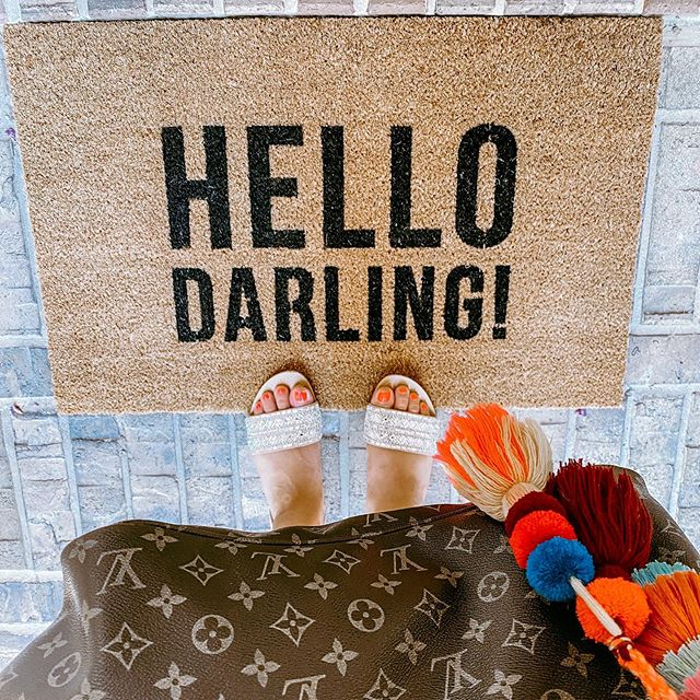 Hello Darling! Vinyl Coir Doormat