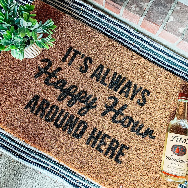 Always Happy Hour Vinyl Coir Doormat