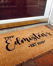 Personalized Family Name Doormats