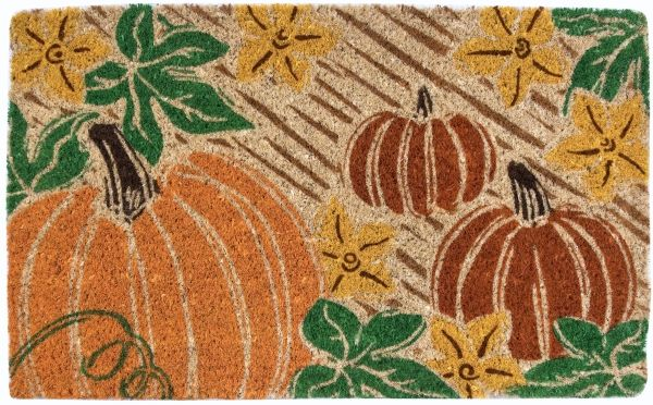 Pumpkin Patch Handwoven Coco Doormat