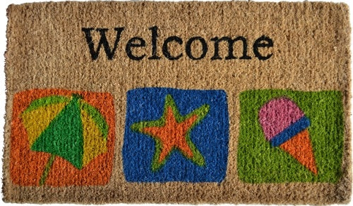 Welcome Beach Coco Doormat
