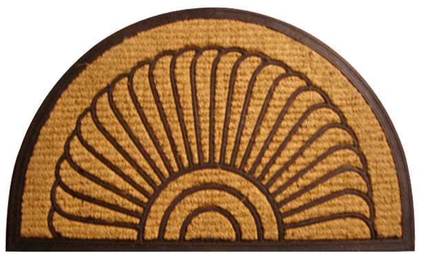 Fan Non Brush Rubber Coir Doormat