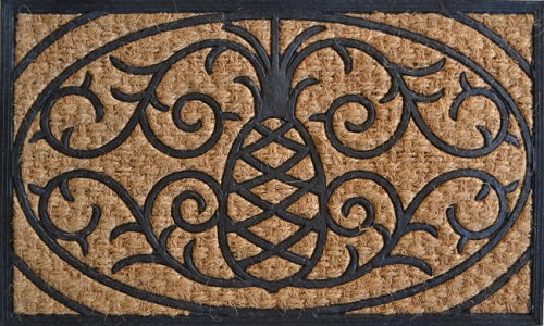 Pineapple Non Brush Rubber Coir Doormat