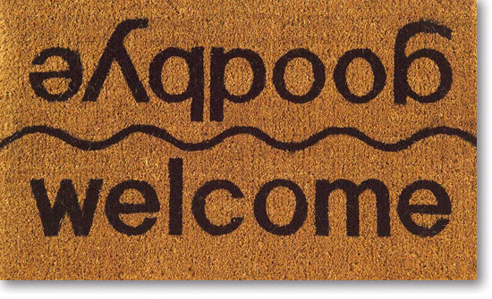 Welcome/Goodbye Vinyl Coir Doormat
