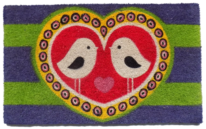 Love Birds PVC Doormat