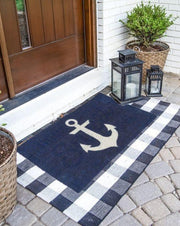 Blue Anchor Vinyl Coir Doormat