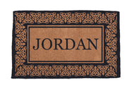 Blooming Hearts Border Personalized Doormats