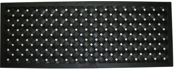 "Braided Recycled Rubber Doormat (18"" x 47"")"
