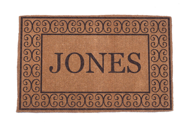 Charleston Border Personalized Doormats