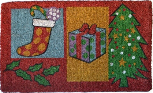 Christmas Gifts Handwoven Coco Doormat