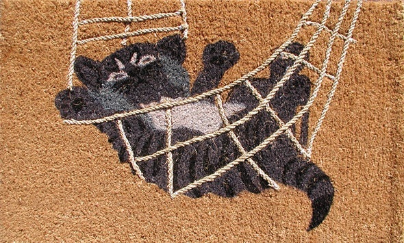 Cat Rubber Coir Doormat