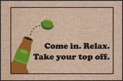Relax Take your Top Off Olefin Doormat