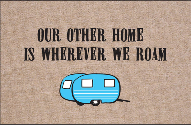 FUNNY 'OUR OTHER HOME - CAMPER' DOORMAT