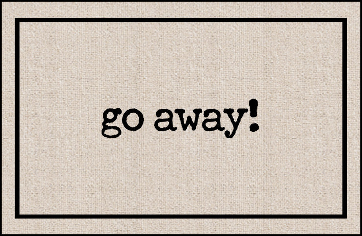 Go Away Olefin Doormat