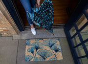 Grand Gingko Handwoven Coco Doormat