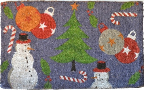 Holiday Spirit Handwoven Coco Doormat
