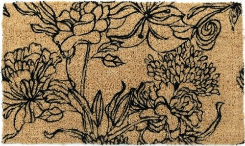 Ink Bouquet Handwoven Coco Doormat