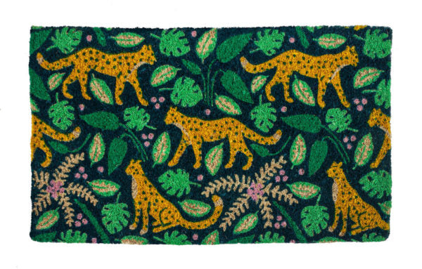 Leopards Handwoven Coco Doormat