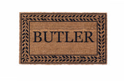 Leafy Vines Border Personalized Doormats