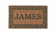 Rolling Scrolls Border Personalized Doormats