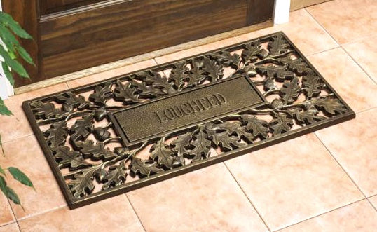 Personalized Oakleaf (Bronze) Recycled Rubber Doormat