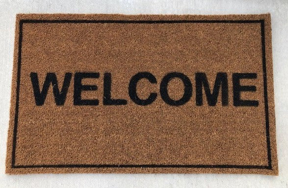 Welcome with Border Vinyl Coir Doormat