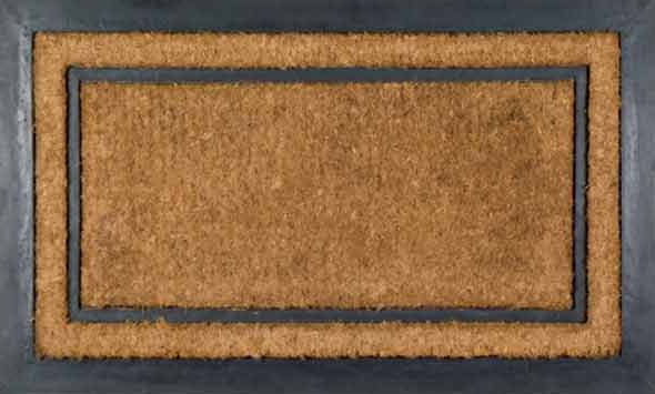 York Rectangular Rubber Coir Doormat