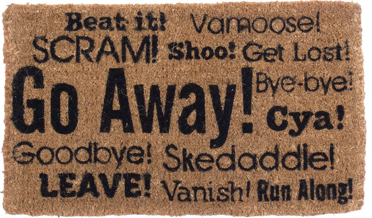 Go Away Synonyms Vinyl Coir Doormat