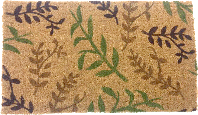 Light Leaves Coco Doormat