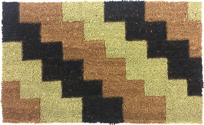Diagonal Bricks Beveled Coir Mats