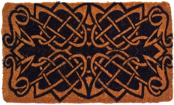 Celtic Knots Handwoven Coco Doormat