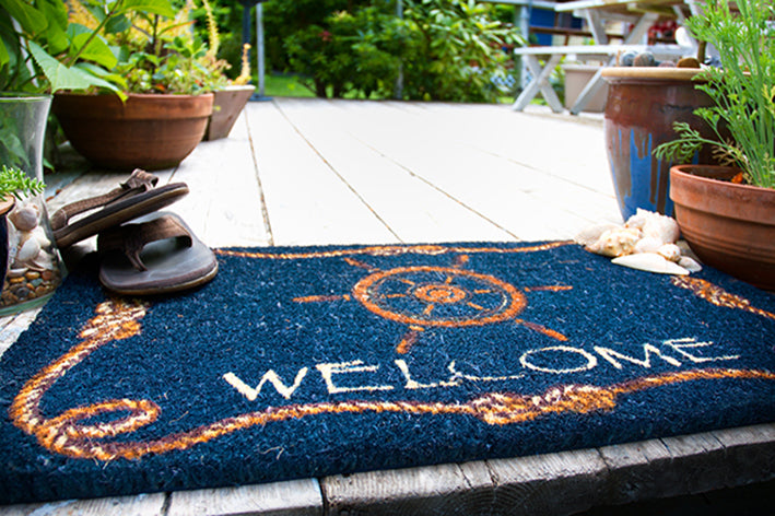 Coco Doormat Ships Wheel Welcome