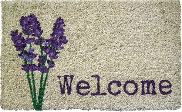 Lavender Welcome Handwoven Coco Doormats