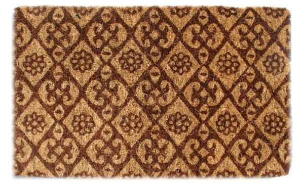 Floral Brown Coco Doormat