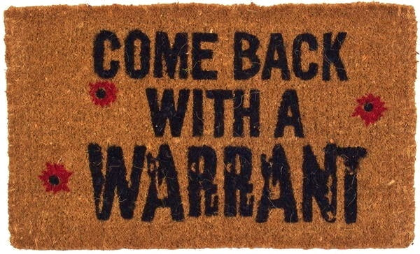 Come Back with a Warrant Coco Doormat