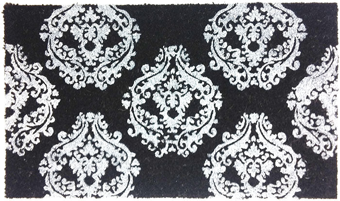 Damask Pattern Vinyl Backed Coco Mat