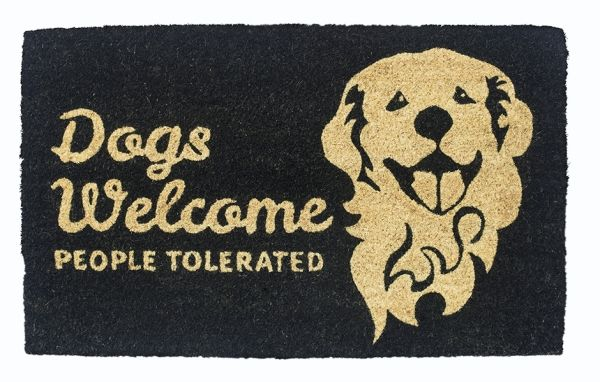 Dogs Vs People Vinyl Coir Doormat