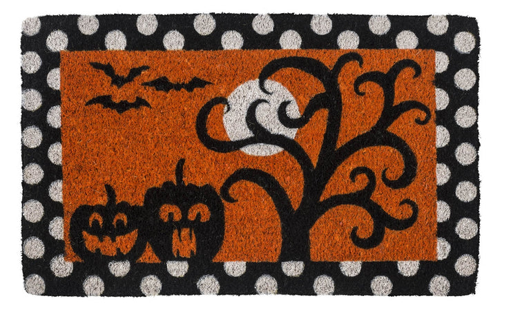 Frightful and Delightful Handwoven Coco Doormat