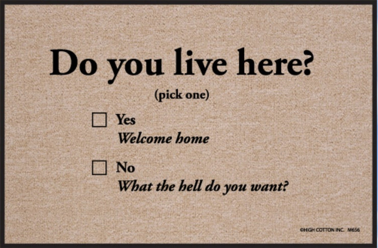 Funny-Doormat-Do-You-Live-Here