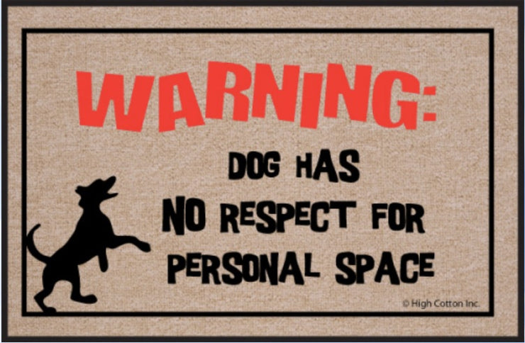 Funny-Doormat-Dog-Has-No-Respect