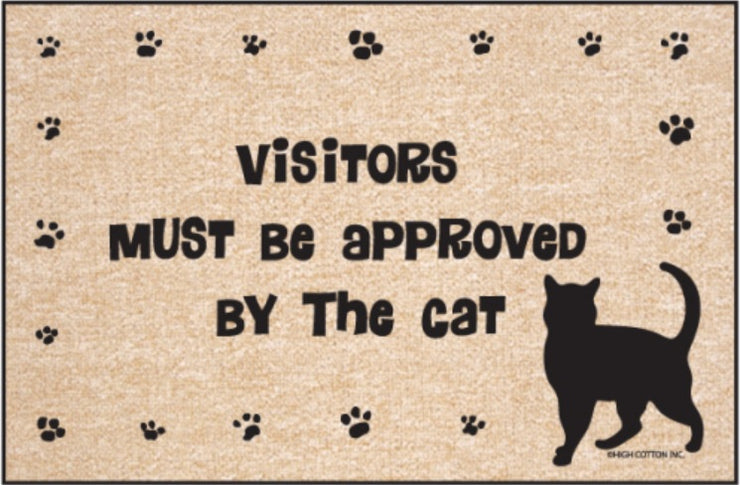 Funny-Doormat-Visitors-Approved-By-Cat