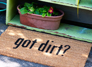 Got Dirt? Handwoven Coco Doormat