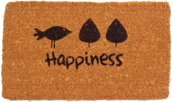 Happiness Handwoven Coco Doormat